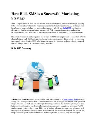 How Bulk SMS is a Successful Marketing Strategy