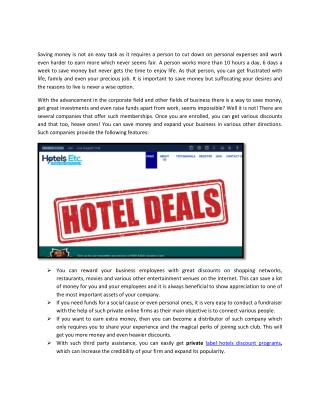 private label hotels discount programs