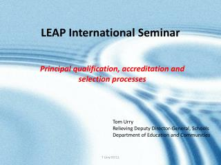LEAP International Seminar