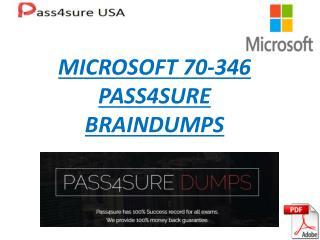 Pass4sure Usa Microsoft Exam 70-346