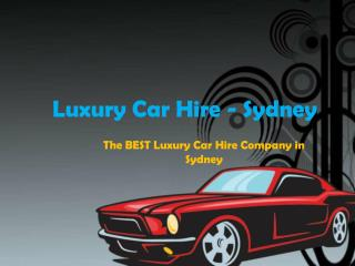 Super Car Rental Sydney