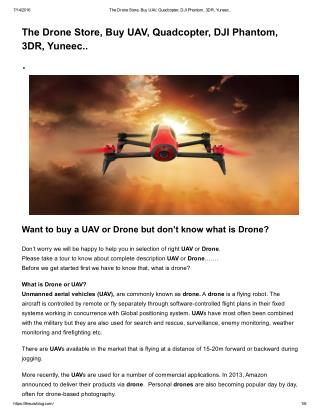 The Drone Technology
