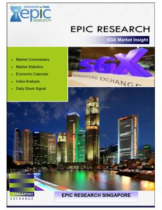 EPIC RESEARCH SINGAPORE - Daily SGX Singapore report of 14 July 2016
