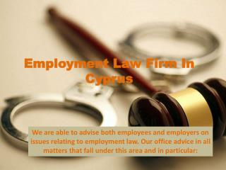 Employment Law Firm In Cyprus