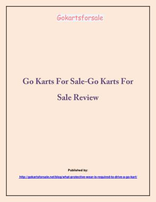 -Go Karts For Sale Review