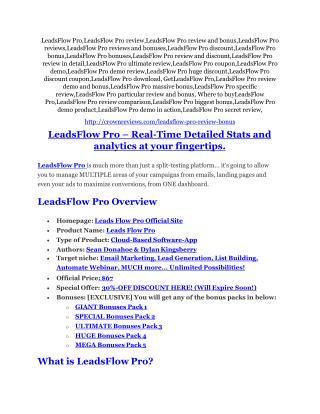 LeadsFlow Pro review - A top notch weapon