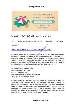 Huawei H13-621-ENU practice exam