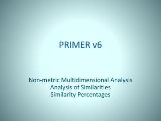 PRIMER v6
