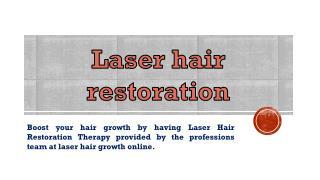 Hair growth laser treatment