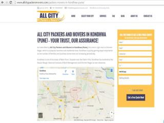 All City Packers and Movers in Kondhwa (Pune) – Your trust, our assurance!