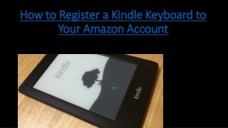 how to register a kindle keyboard to your pc