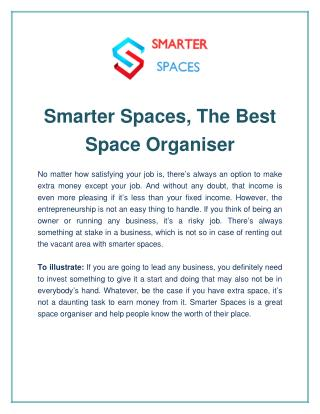 Smarter Spaces, The Best Space Organiser