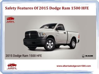 Safety Features of 2015 Dodge Ram 1500 HFE