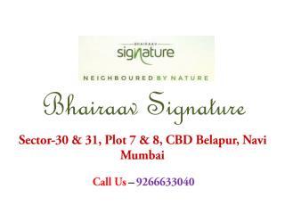Flats in Bhairaav Signature Belapur Mumbai – Investors Clinic