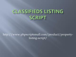Classifieds Listing Script
