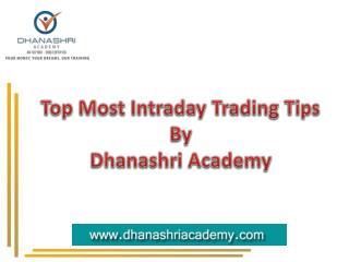 Day Trading Tips for Beginners | Dhanashri Academy