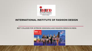 Top fashion designing institutes in India