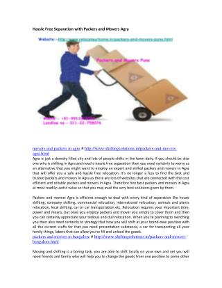 Just how to Find Competent and Reliable Packers and Movers in Agra
