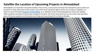 Satellite the Location of Upcoming Projects in Ahmedabad