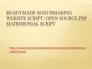 Readymade Matchmaking Website Script