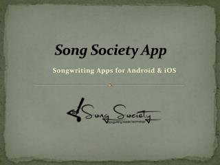 Songwriting Apps for Android & iOS
