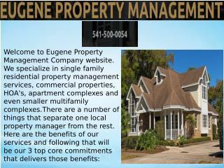 property management eugene oregon,