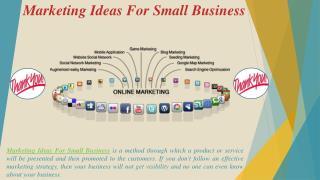 Marketing Ideas For Small Business - Lkupz.Com