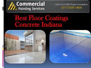 Best Floor Coatings Concrete Indiana
