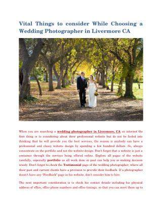 Wedding Photographer livermore Ca