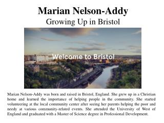 Marian Nelson-Addy - Growing Up in Bristol