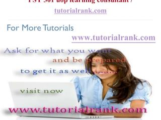 PSY 301 uop learning consultant  tutorialrank.com