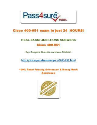 Pass4sure 400-051 Dumps