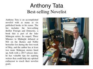 Anthony Tata - Best-selling Novelist