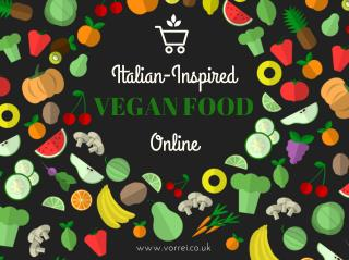 Italian Inspired Vegan Food Shopping Guide