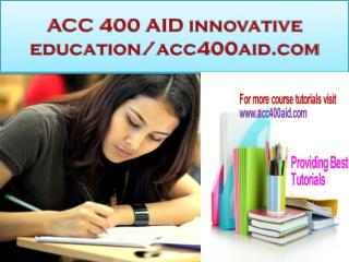 ACC 400 AID innovative education/acc400aid.com