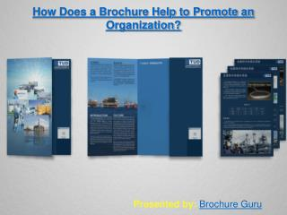 How Does a Brochure Help to Promote an Organization?