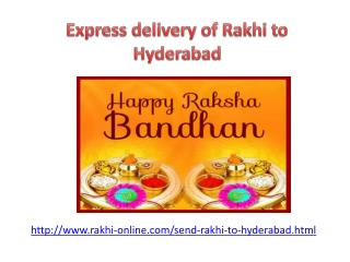 Send online rakhi to Hyderabad