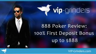 888 Poker Review: 100 % First Deposit Bonus up to $888 | Poker Training | Professional Online Poker