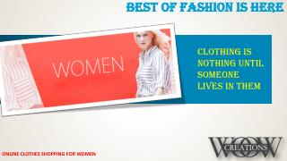 Online Shopping for womens dresses in India