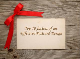 Top 10 factors who makes postcard design effective