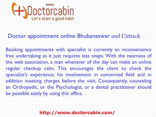 Doctor appointment online Bhubaneswar