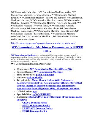 WP Commission Machine review- WP Commission Machine (MEGA) $21,400 bonus