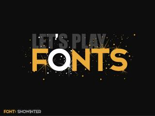 Let's Play Fonts (A creative illustration)