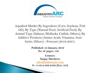 Aquafeed Market: Asia Pacific is projected to witness the highest growth through 2021 - IndustryARC