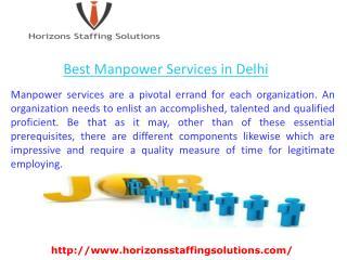 Best Manpower Services in Delhi