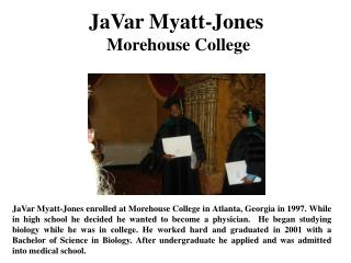 JaVar Myatt-Jones Morehouse College