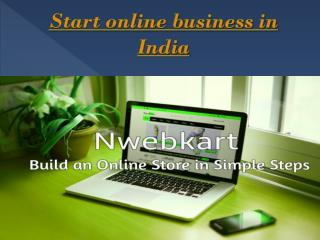 Start online business in India