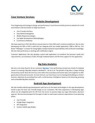 Big Data Analytics - Web Development