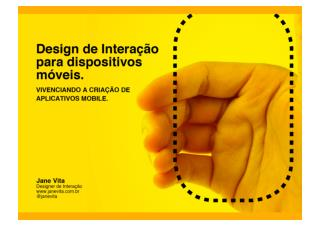 Design de Interação para Dispositivos Móveis - turma de setembro 2011