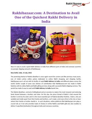 Rakhibazaar.com: A Destination to Avail One of the Quickest Rakhi Delivery in India!